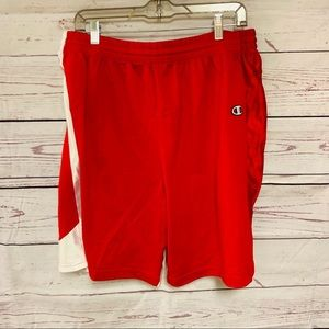 Champion Red and White Lacrosse Gym Shorts